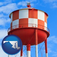 maryland a water storage tower