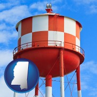 mississippi a water storage tower