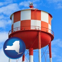 new-york a water storage tower