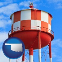 oklahoma a water storage tower