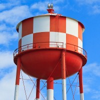 a water storage tower