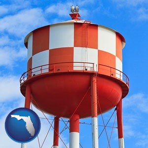 a water storage tower - with Florida icon